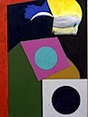 Joyful Abstraction, 1991 acrylic painting on rag paper by Eugene Martin, 29x22