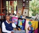 Eugene Martin in his studio in Lafayette, Louisiana, 2000